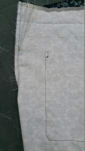 canvas trousers back seam
